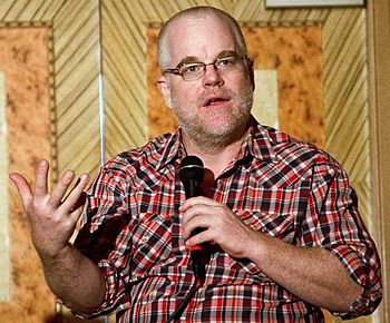 English: Philip Seymour Hoffman at a Hudson Un...